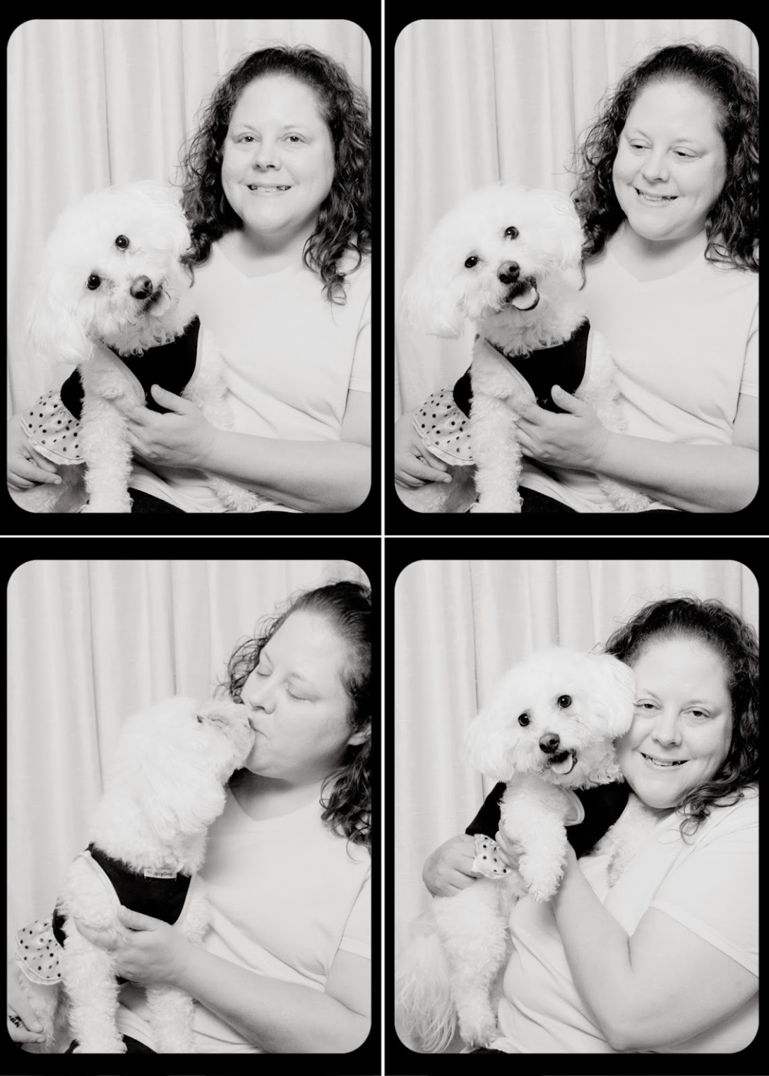Black and White Sunday: Delia and I at the St. Louis Pet Expo