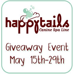 Happytails Canine Spa Line Sparkle and Shine Brightening Shampoo and Eye Pads Giveaway and Review