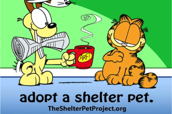 Garfield and Odie Join The Shelter Pet Project to Promote Pet Adoption